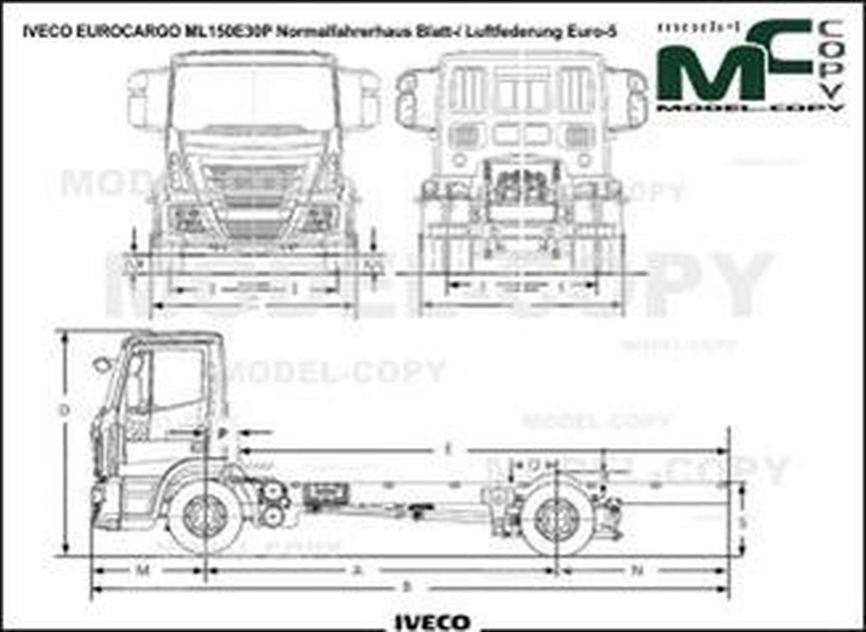 IVECO EUROCARGO ML150E30P Normalfahrerhaus Blatt-/ Luftfederung Euro-5 - drawing
