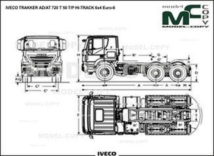IVECO TRAKKER AD/AT 720 T 50 T/P HI-TRACK 6x4 Euro-6 - drawing