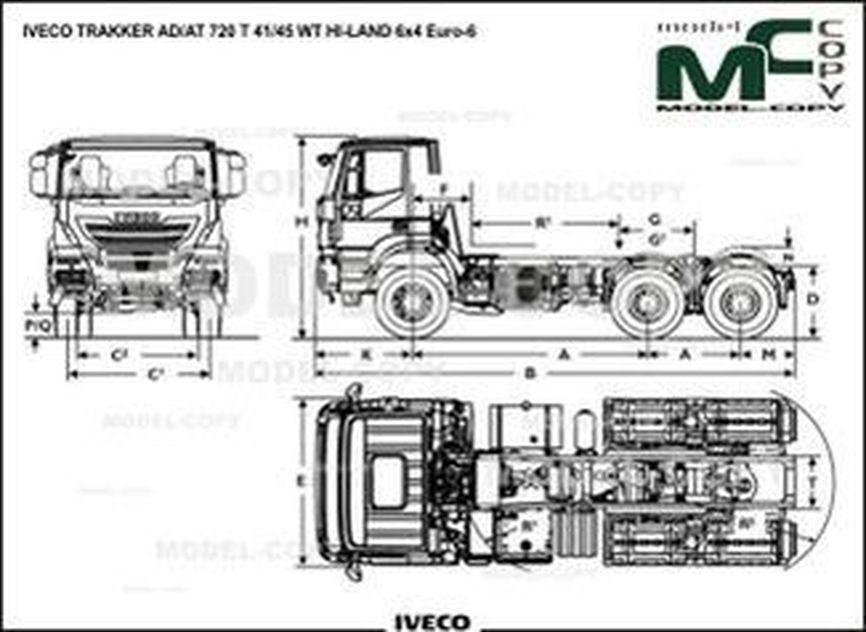 IVECO TRAKKER AD/AT 720 T 41/45 WT HI-LAND 6x4 Euro-6 - drawing