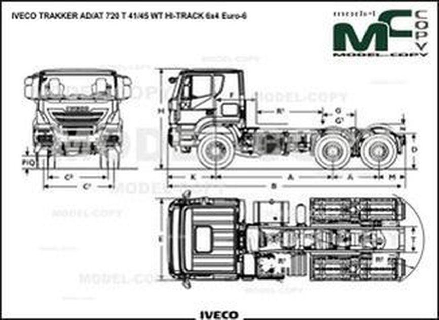 IVECO TRAKKER AD/AT 720 T 41/45 WT HI-TRACK 6x4 Euro-6 - drawing