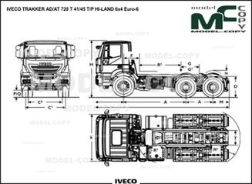IVECO TRAKKER AD/AT 720 T 41/45 T/P HI-LAND 6x4 Euro-6 - drawing