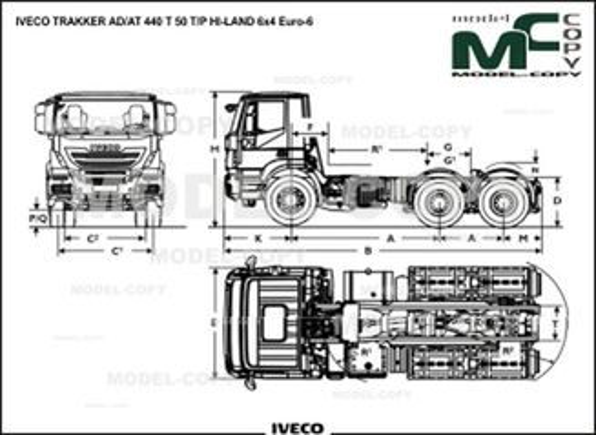 IVECO TRAKKER AD/AT 440 T 50 T/P HI-LAND 6x4 Euro-6 - drawing