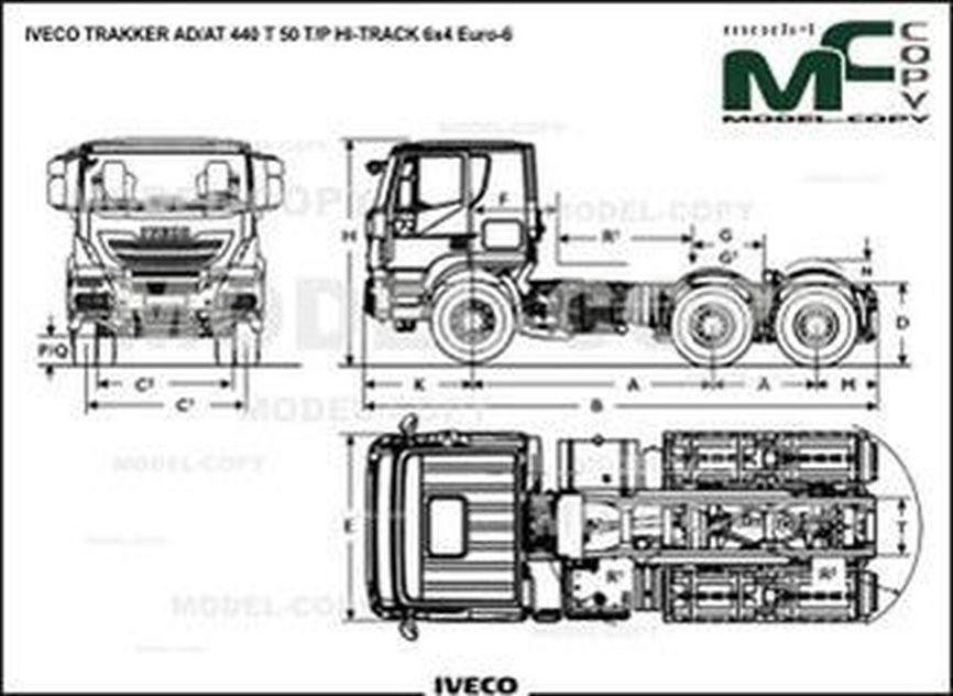 IVECO TRAKKER AD/AT 440 T 50 T/P HI-TRACK 6x4 Euro-6 - drawing