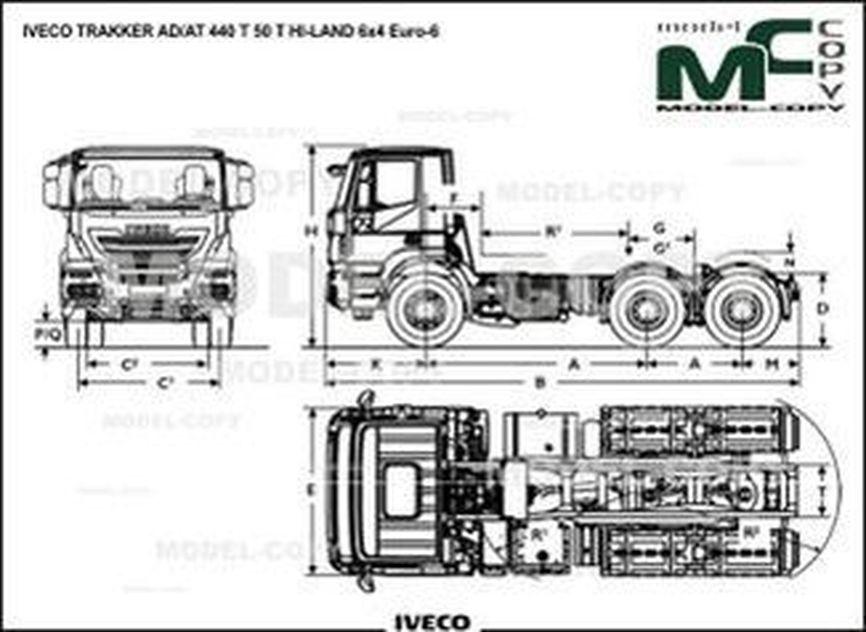 IVECO TRAKKER AD/AT 440 T 50 T HI-LAND 6x4 Euro-6 - drawing