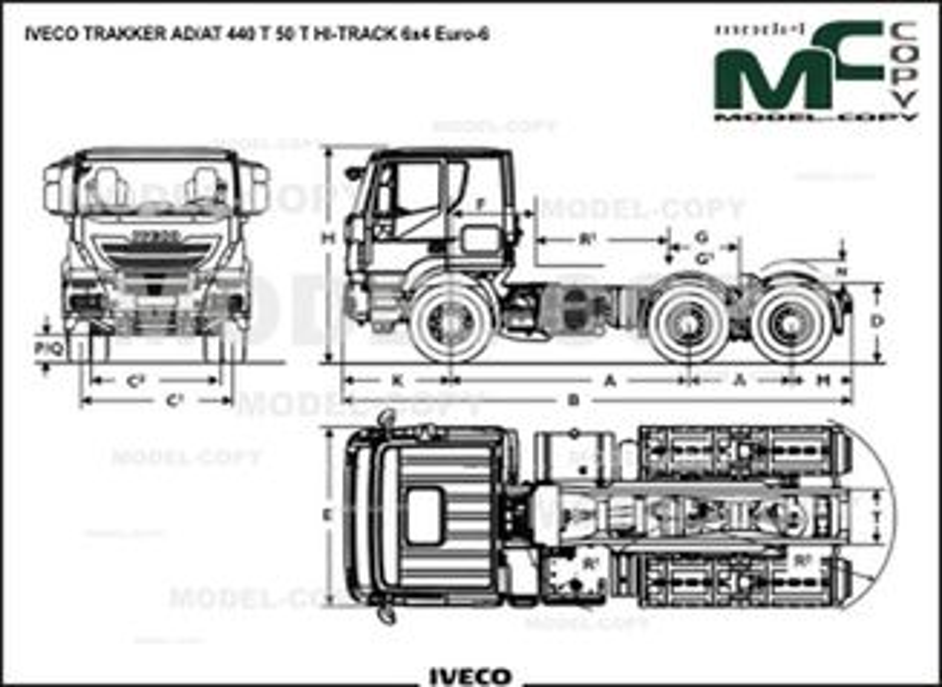 IVECO TRAKKER AD/AT 440 T 50 T HI-TRACK 6x4 Euro-6 - drawing