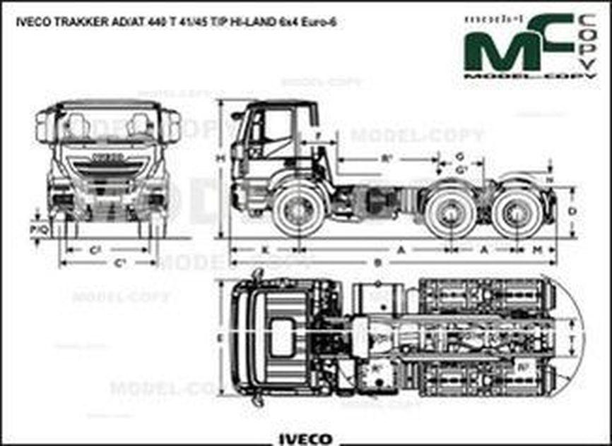 IVECO TRAKKER AD/AT 440 T 41/45 T/P HI-LAND 6x4 Euro-6 - drawing
