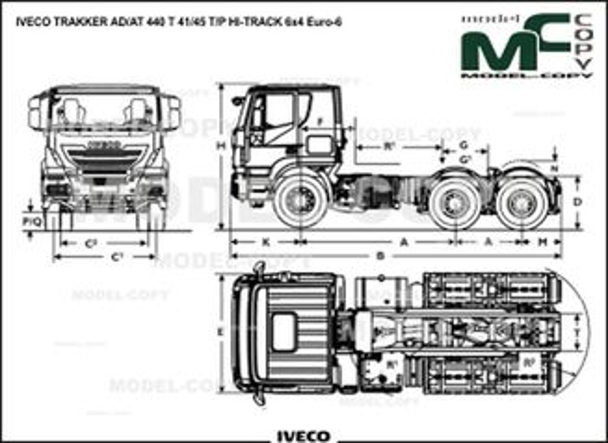 IVECO TRAKKER AD/AT 440 T 41/45 T/P HI-TRACK 6x4 Euro-6 - drawing