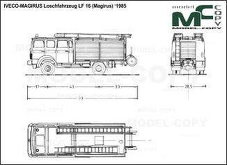 IVECO-MAGIRUS Loschfahrzeug LF 16 (Magirus) '1985 - 2D drawing (blueprints)