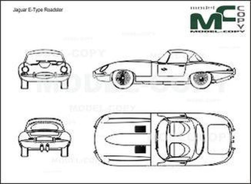 Jaguar e type roadster dessin 20393 model copy - Jaguar dessin ...