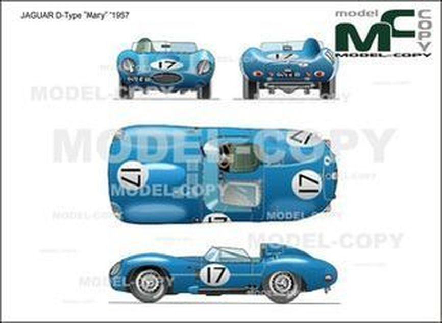 """JAGUAR D-Type """"Mary"""" '1957 - 2D drawing (blueprints)"""