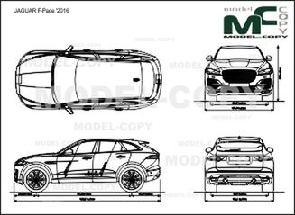 JAGUAR F-Pace '2016 - drawing