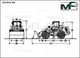 JCB 436 HT SHL - 2D drawing (blueprints)