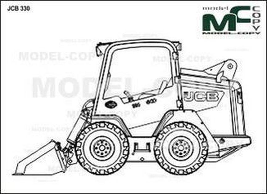 JCB 330 - 2D drawing (blueprints)