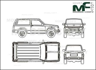 Jeep Cherokee, 3 Doors   Drawing