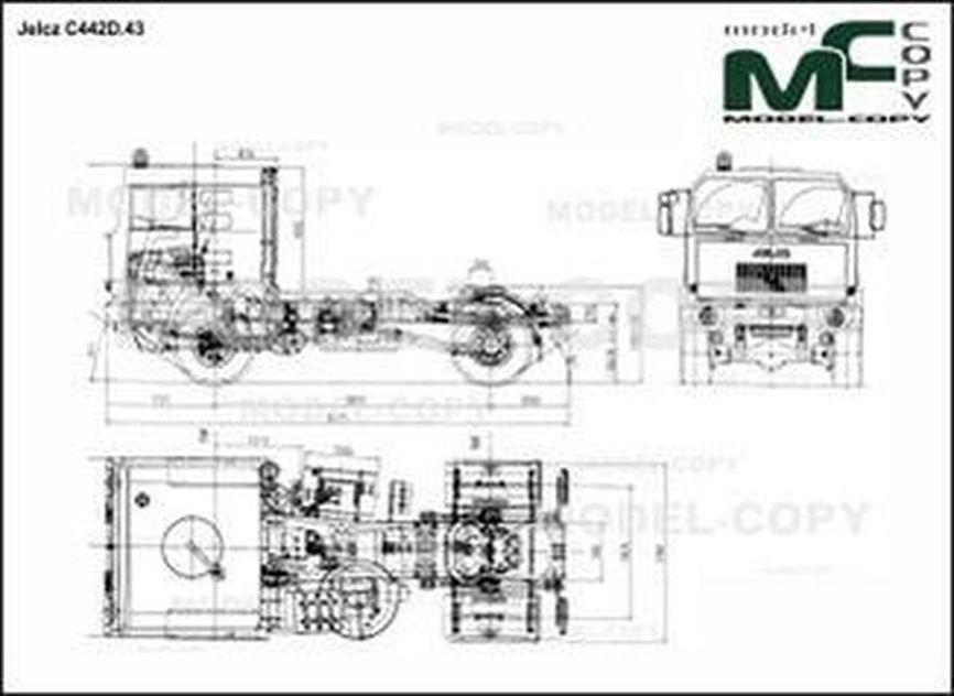 Jelcz C442D.43 - 2D drawing (blueprints)