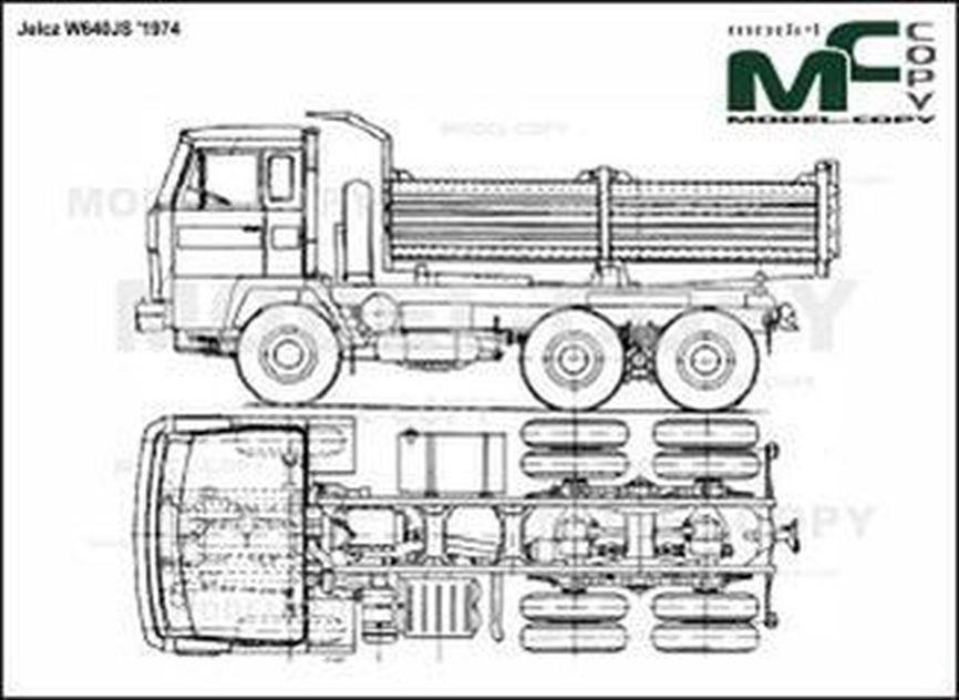 Jelcz W640JS '1974 - 2D drawing (blueprints)