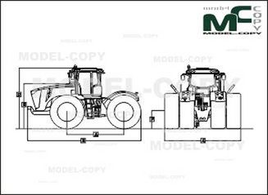 John Deere 9560R - 2D drawing (blueprints)