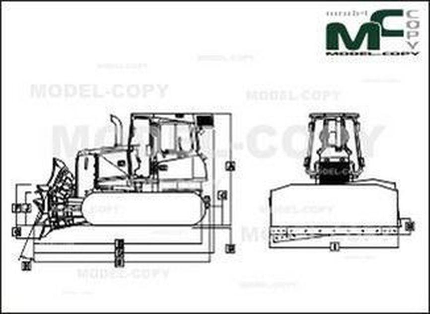 John Deere 650K XLT - 2D drawing (blueprints)