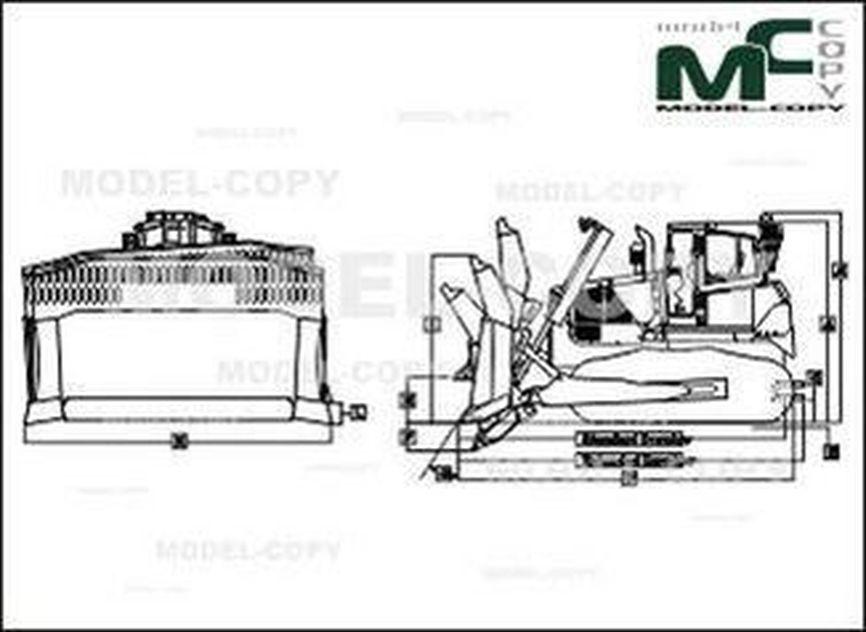 John Deere 850K LGP - 2D drawing (blueprints)