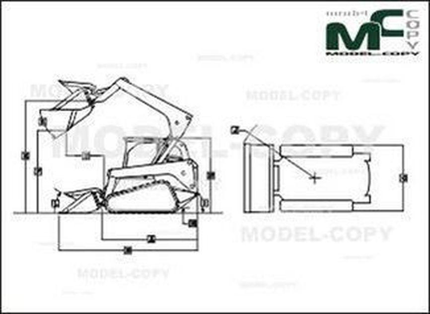 John Deere 323D - 2D drawing (blueprints)