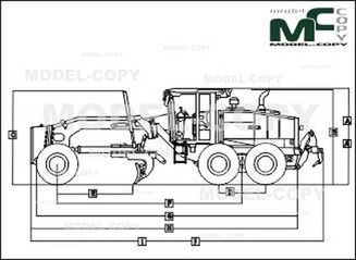 John Deere 772G - 2D drawing (blueprints)