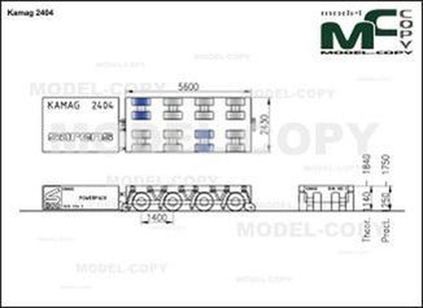 Kamag 2404 - 2D drawing (blueprints)