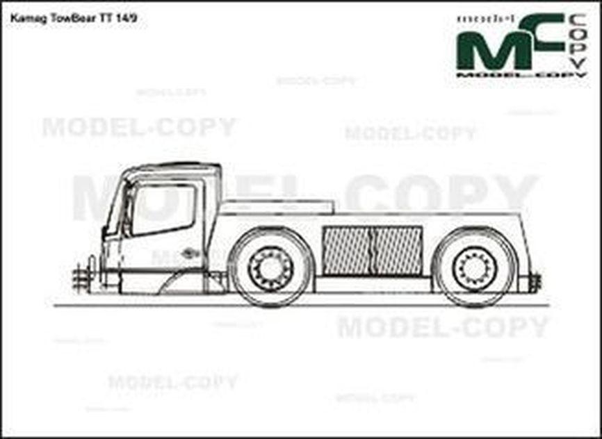 Kamag TowBear TT 14/9 - 2D drawing (blueprints)