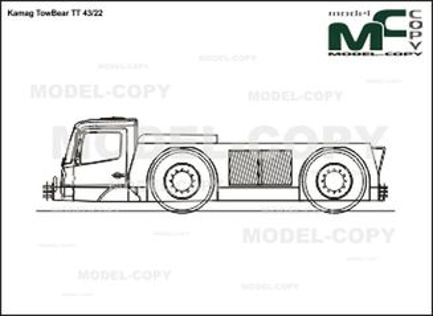 Kamag TowBear TT 43/22 - 2D drawing (blueprints)