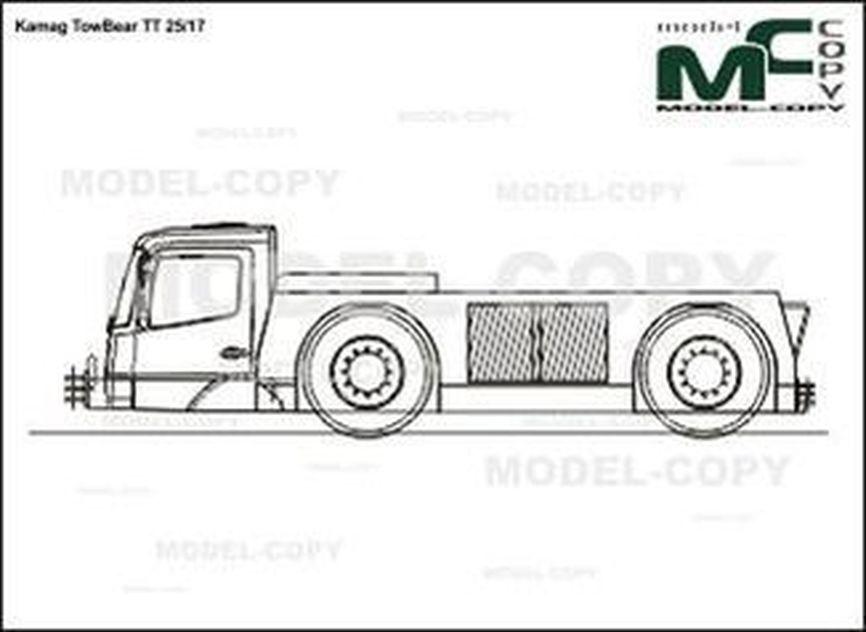 Kamag TowBear TT 25/17 - 2D drawing (blueprints)