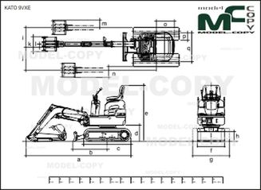 KATO 9VXE - 2D drawing (blueprints)