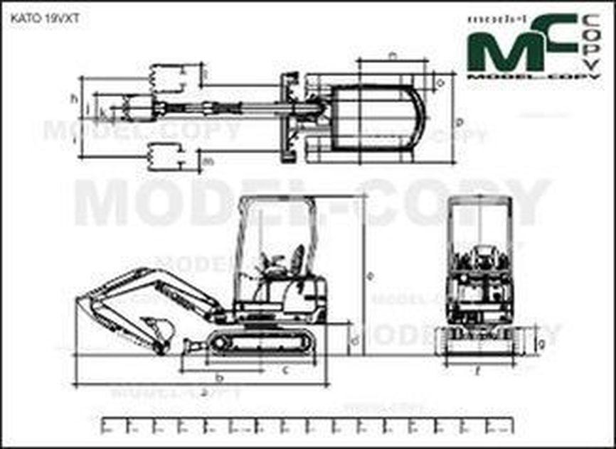KATO 19VXT - 2D drawing (blueprints)