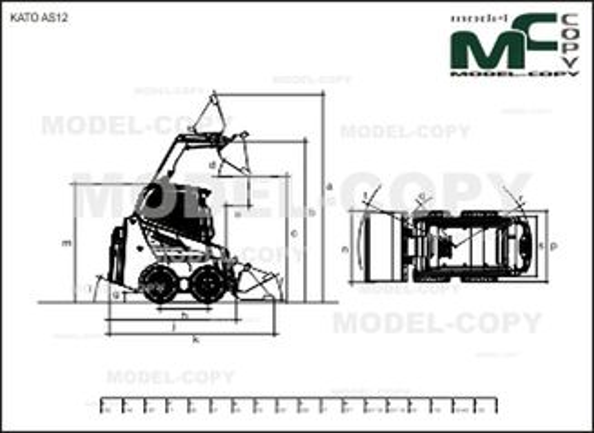 KATO AS12 - 2D drawing (blueprints)