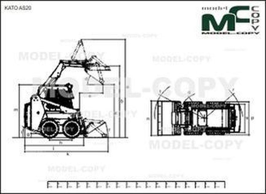 KATO AS20 - 2D drawing (blueprints)