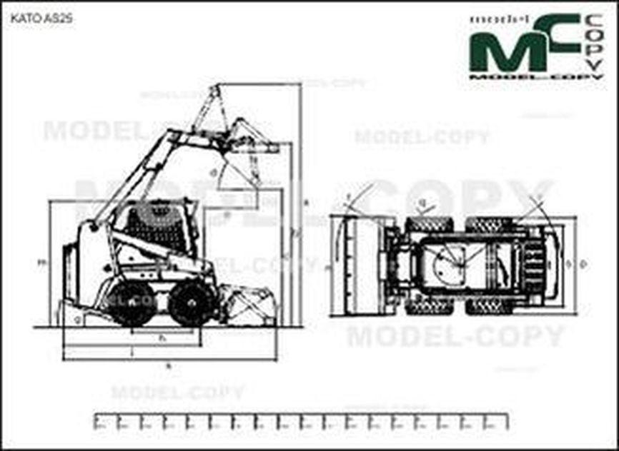 KATO AS25 - 2D drawing (blueprints)