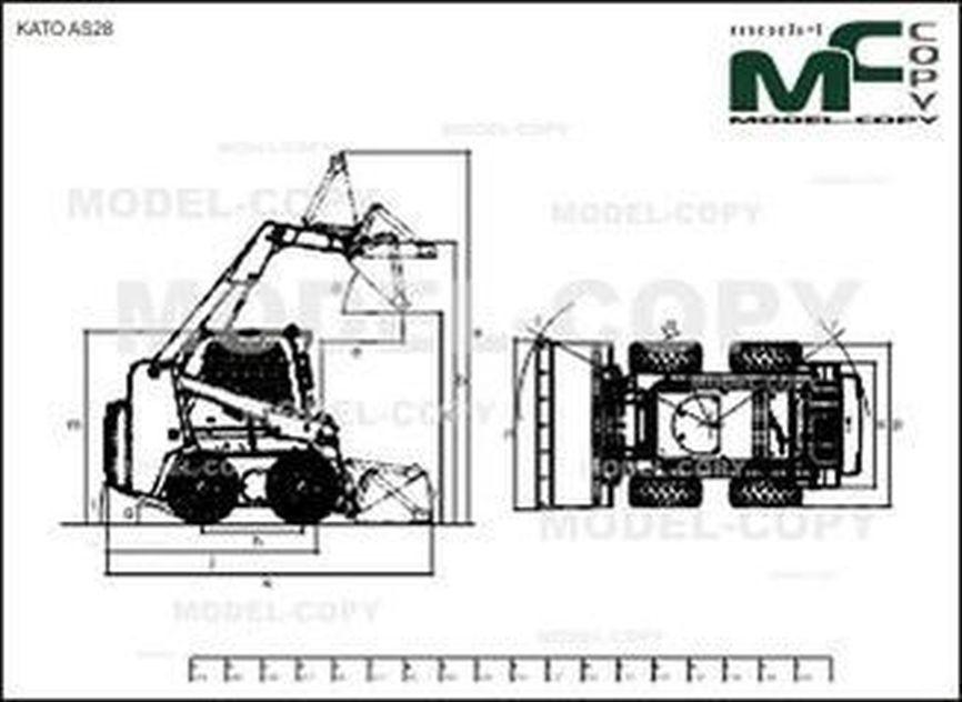 KATO AS28 - 2D drawing (blueprints)