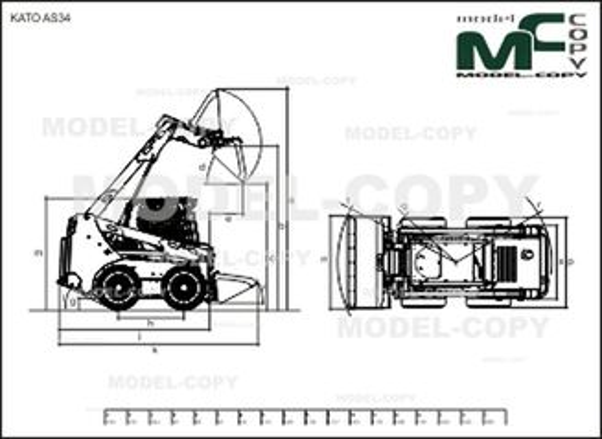 KATO AS34 - 2D drawing (blueprints)