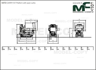 KATO CARRY107 Platform with open curbs - drawing