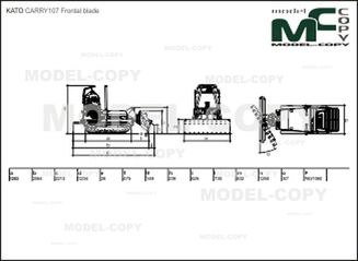 KATO CARRY107 Frontal blade - drawing