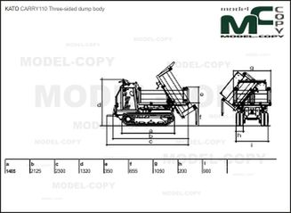 KATO CARRY110 Three-sided dump body - drawing