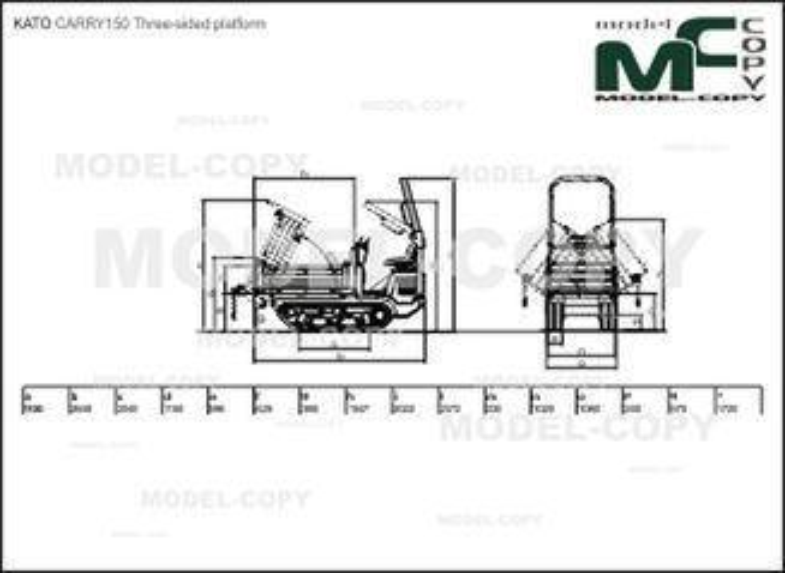 KATO CARRY150 Three-sided platform - drawing