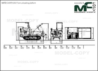 KATO CARRY250 Front unloading platform - drawing