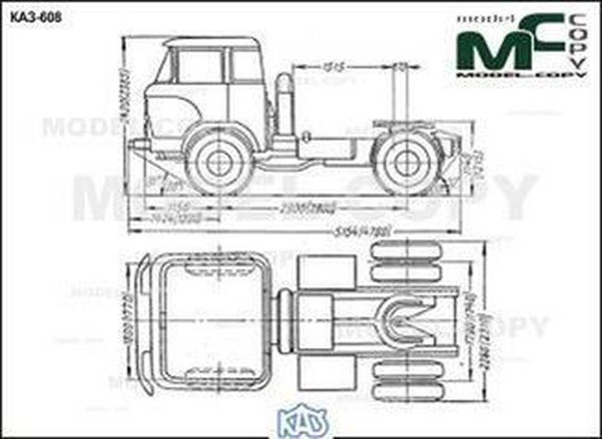 KAZ-608 - drawing