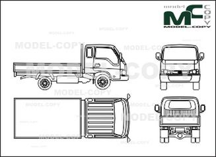 Kia K 2700 - 2D drawing (blueprints)