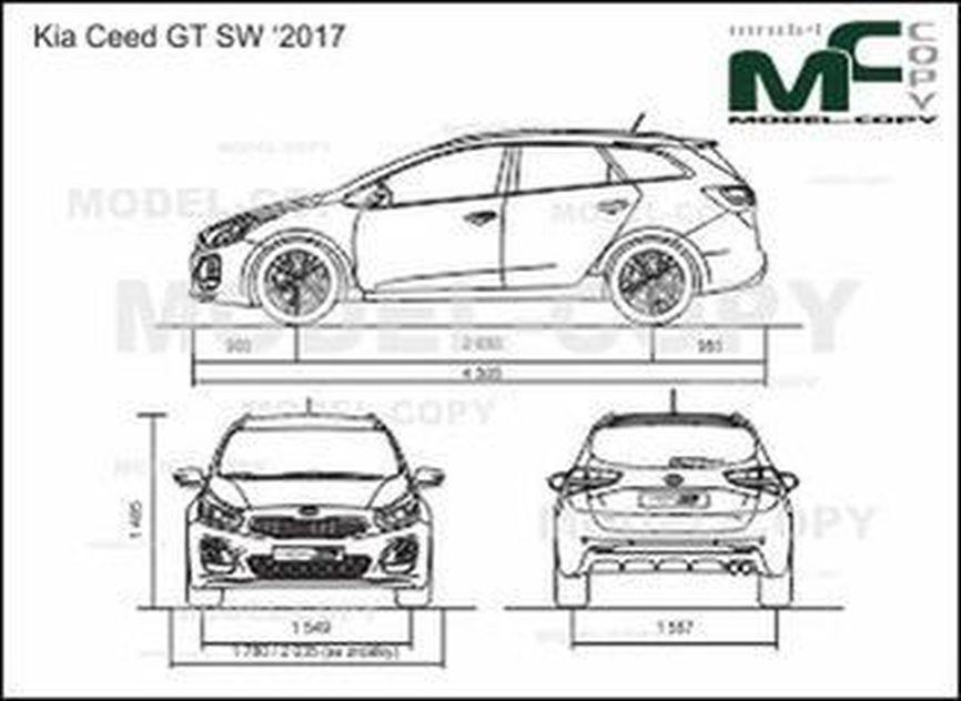 Kia Ceed GT SW '2017 - 2D drawing (blueprints)