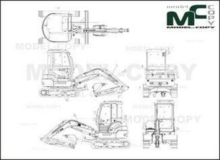 KIPOR KDG 35 - 2D drawing (blueprints)