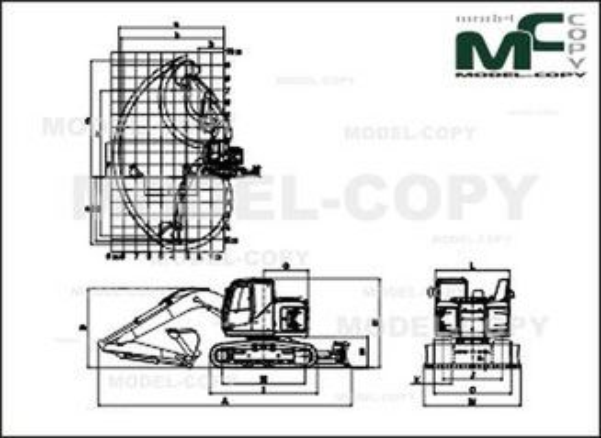 Kobelco ED160 - 2D drawing (blueprints)