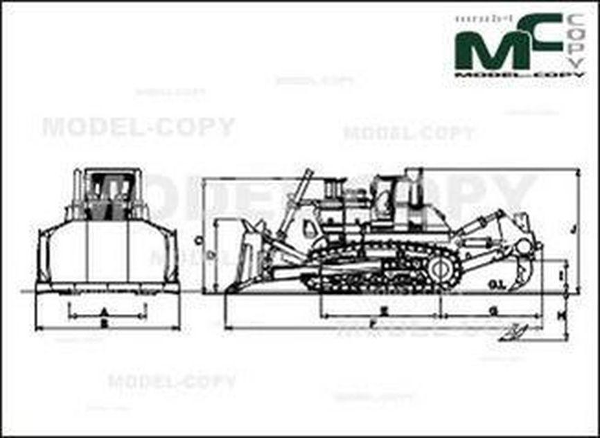 KOMATSU D475A-5 - 2D drawing (blueprints)