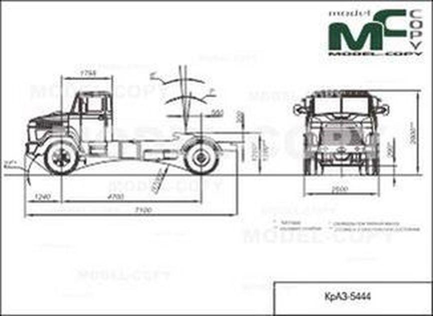 KrAZ-5444 - drawing