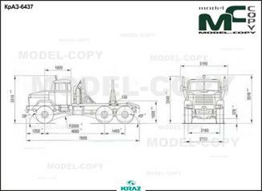 KrAZ-6437 - drawing