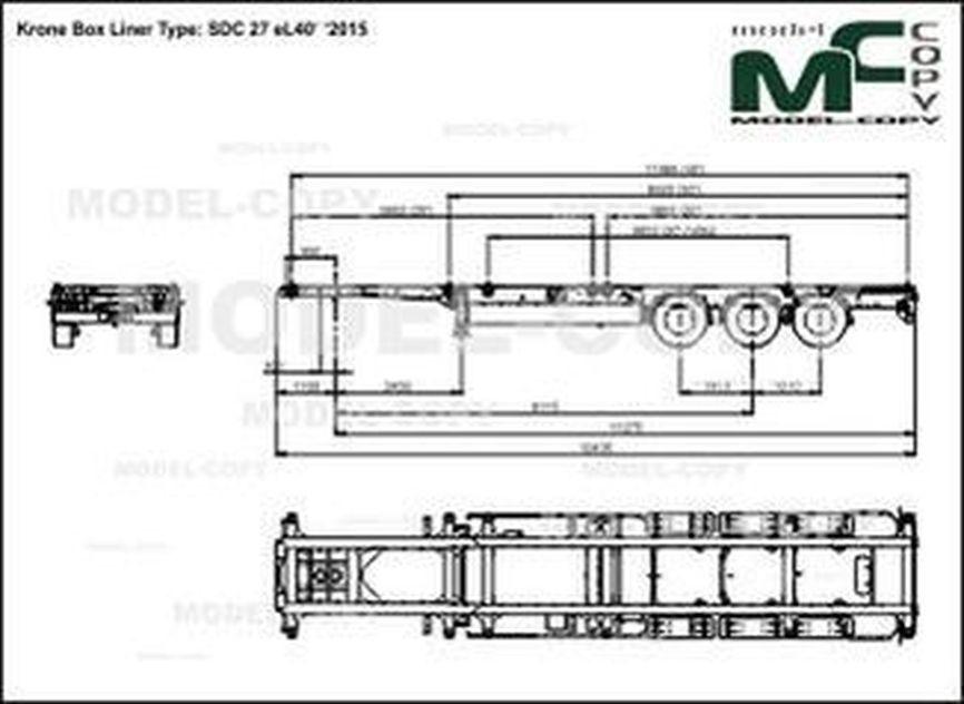 Krone Box Liner Type: SDC 27 eL40' '2015 - drawing